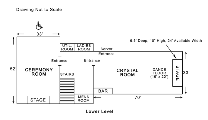 Villa Capri Lower Level Floor Plan
