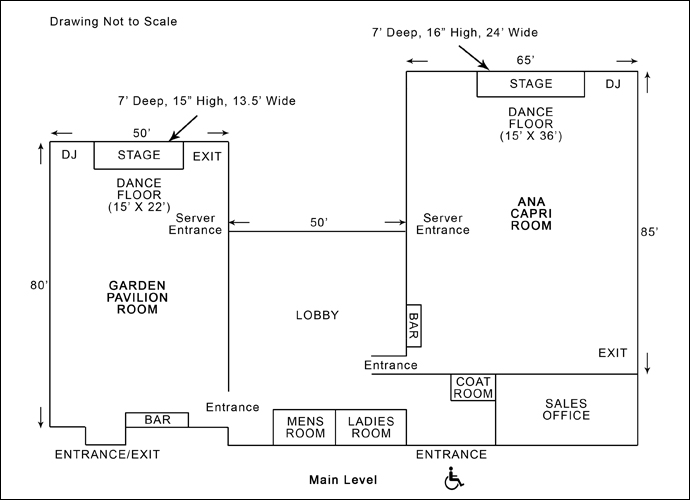 Villa Capri Main Level Floor Plan
